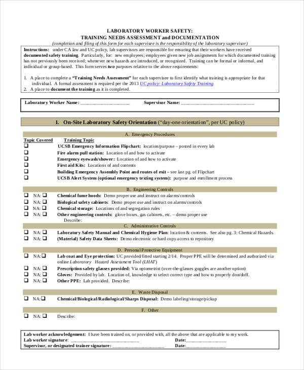 Training Assessment Form Doc | Examples Of Good Resume Summaries