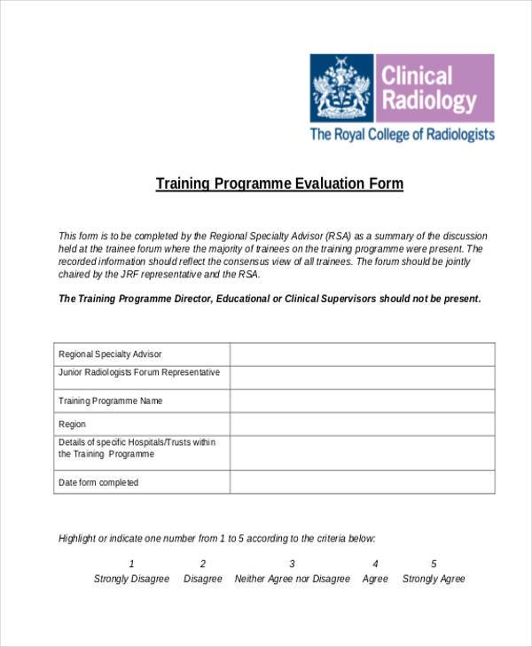 Training Evaluation Form Template Uk – On the Job Training Evaluation Form