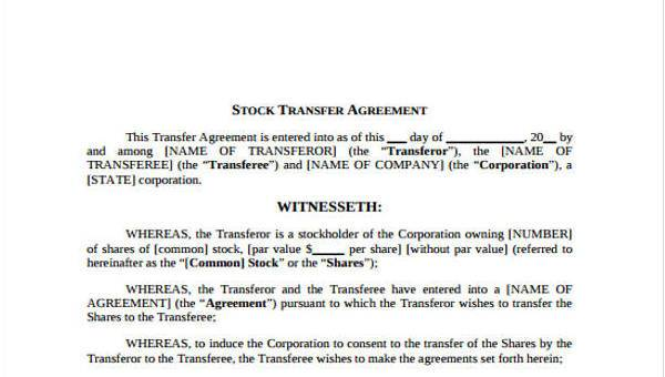 8+ Transfer Agreement Form Samples - Free Sample, Example Format