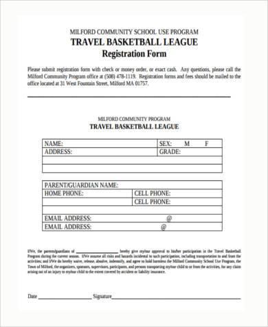 basketball registration form template word - Bire1andwap
