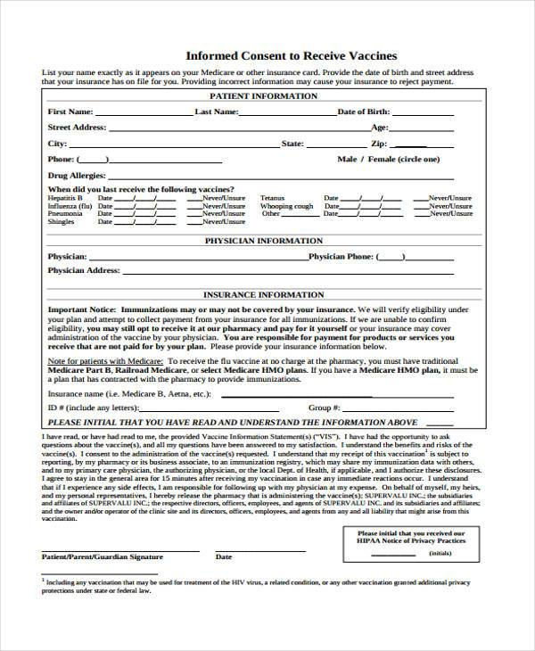Informed Consent Form kicksneakers