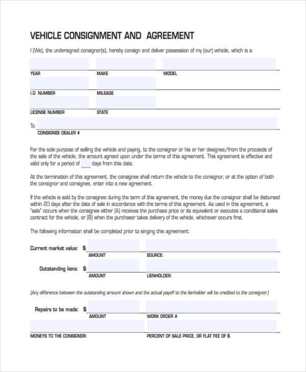 consignment form for cars - Onwebioinnovate