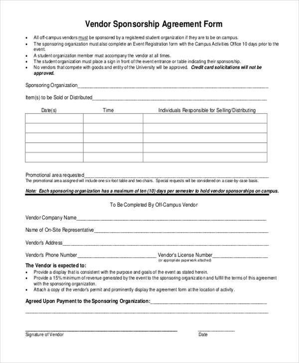 vendor agreement format - 28 images - vendor agreement template 18