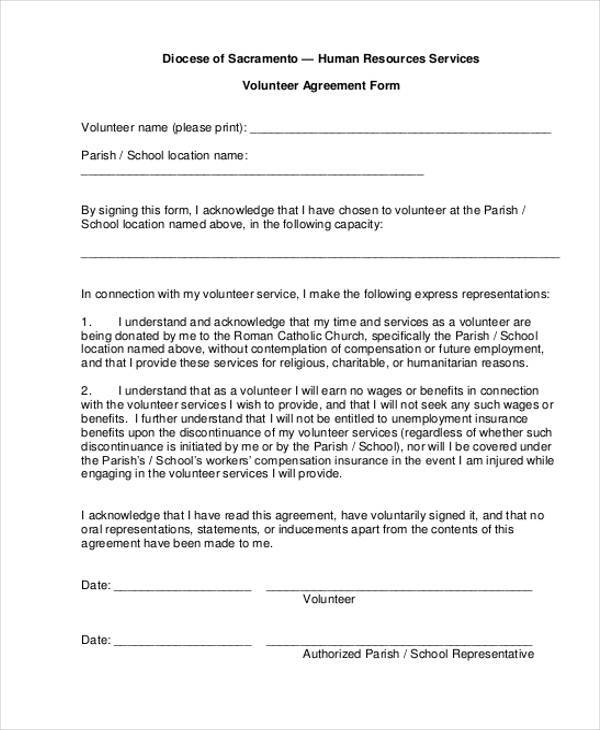 Volunteer Confidentiality Agreements Print Free Confidentiality
