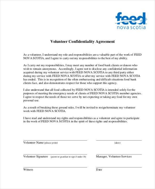Volunteer Agreement Template The Legal StopVolunteer
