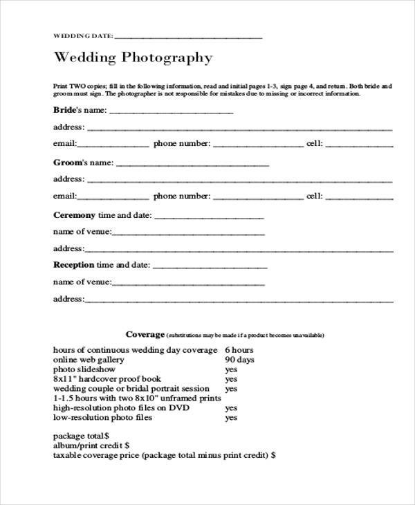 Free Release Forms   Photographer Release Form