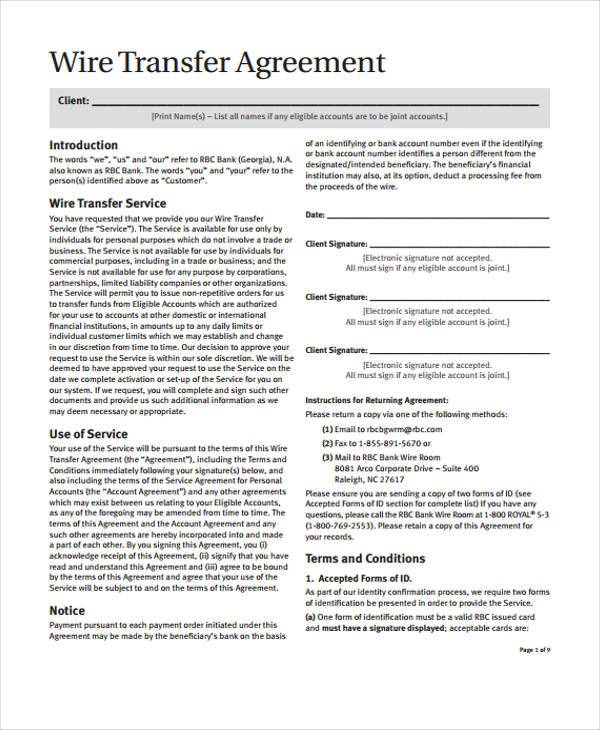 transfer agreements - criasite - transfer agreements