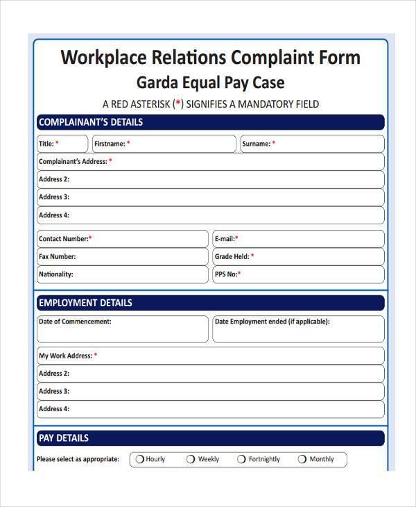 Complaint Form 2 Business Complaint Form Sample Complaint Forms - sample patient complaint form