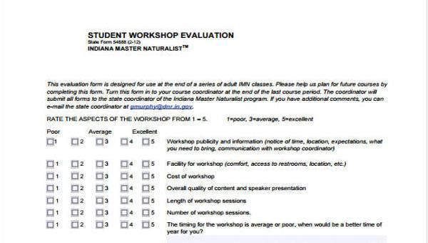 9+ Workshop Evaluation Form Samples - Free Sample, Example Format
