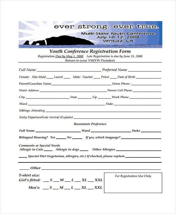 8+ Conference Registration Form Samples - Free Sample, Example - customer registration form sample