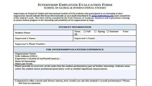 Supervisor Evaluation Form Templatehousekeeping resume skills
