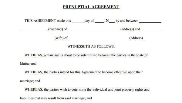 6+ Prenuptial Agreement Form Samples - Free Sample, Example Format