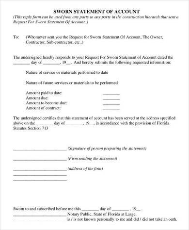 resume declaration statement format resume sample declaration