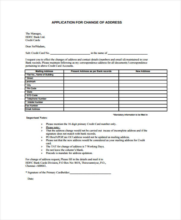 free change of address form online 107 Free change of address form – Free Change of Address Form Online