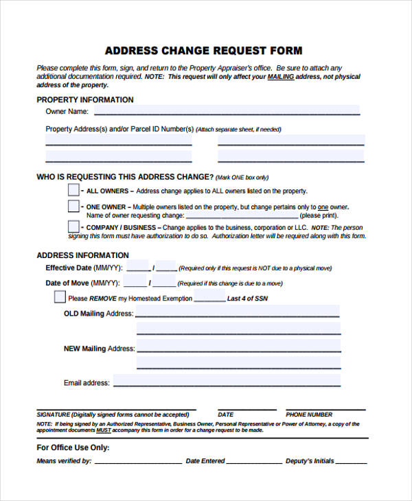 print change of address form | lukex.co