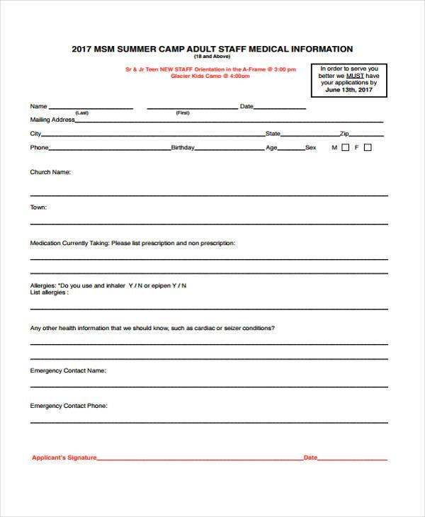 emergency medical information form template - Romeolandinez - free medical form templates