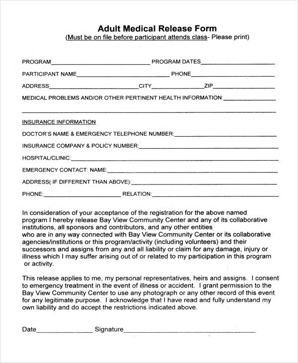 25+ Medical Release Forms - Medical Information Release Form