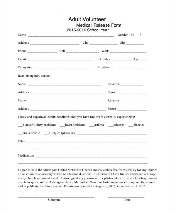 25+ Medical Release Forms - medical release forms