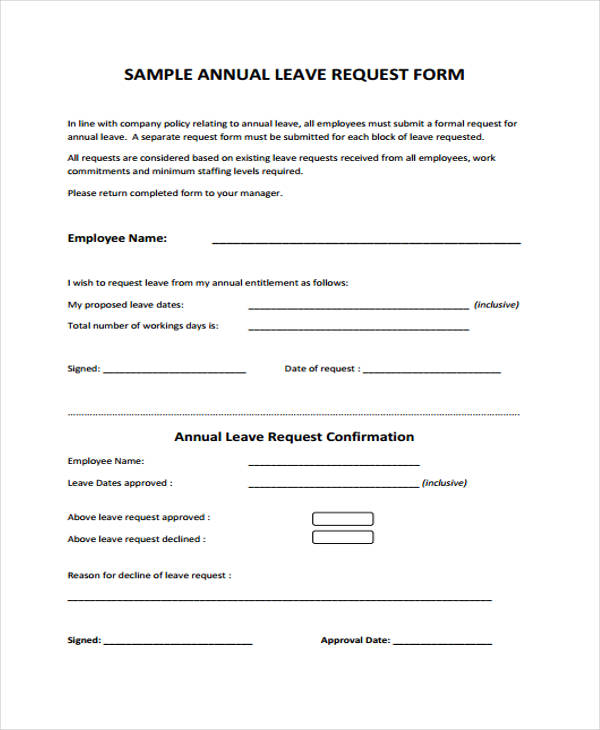 Sample Request Form