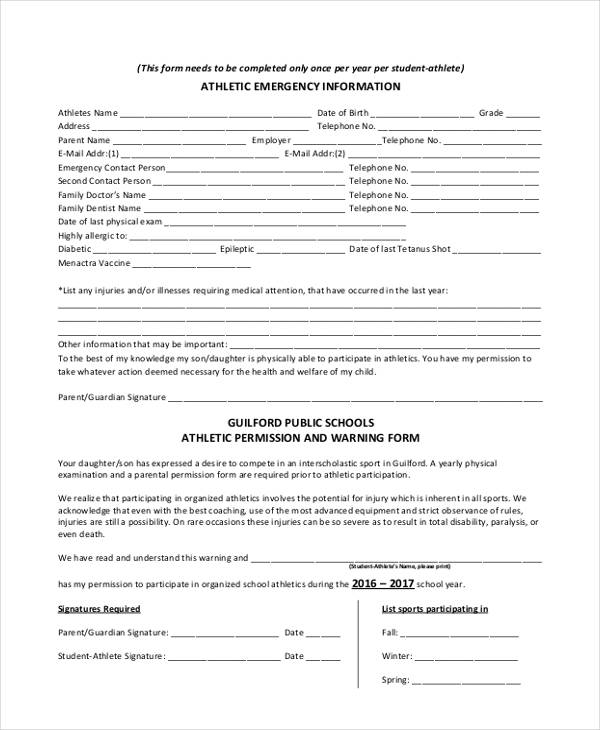34 Emergency Contact Forms - emergency contact form