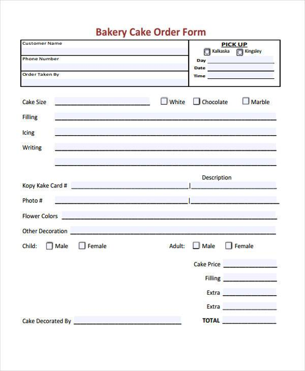 Simple Order Forms