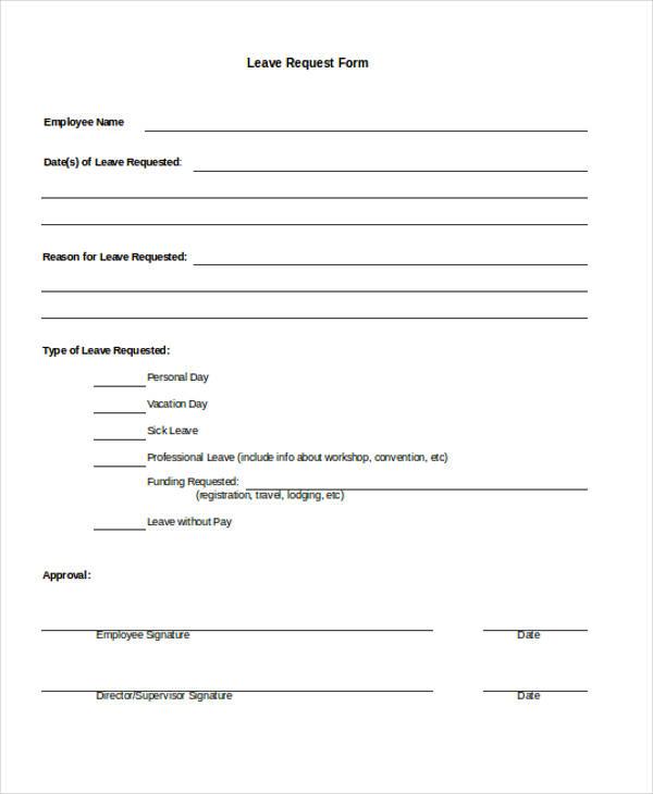 absence request form template - Goalgoodwinmetals