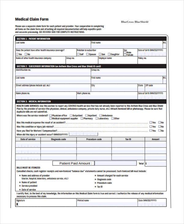 Download Fillable Hcfa 1500 Claim Form Pdf Rtf Word Health