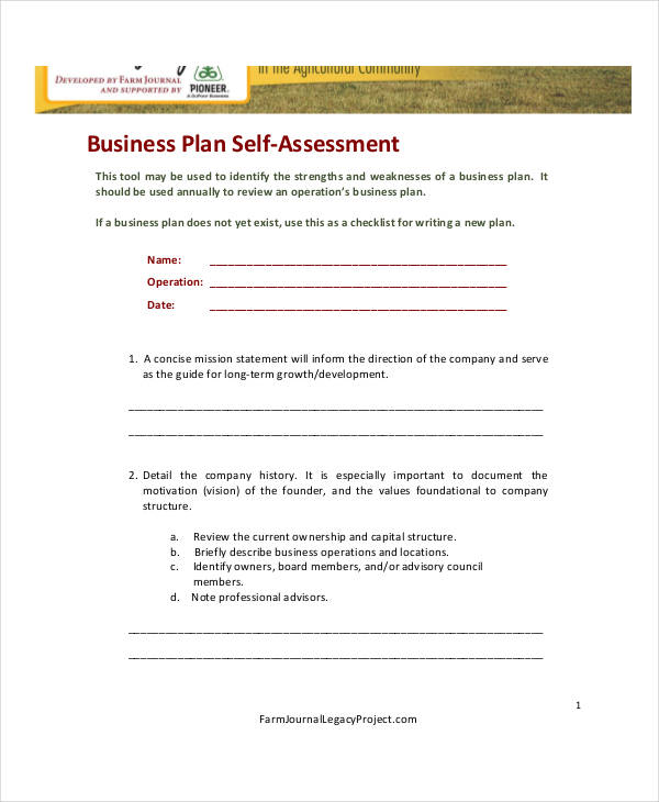 35+ Self-Assessment Forms in PDF