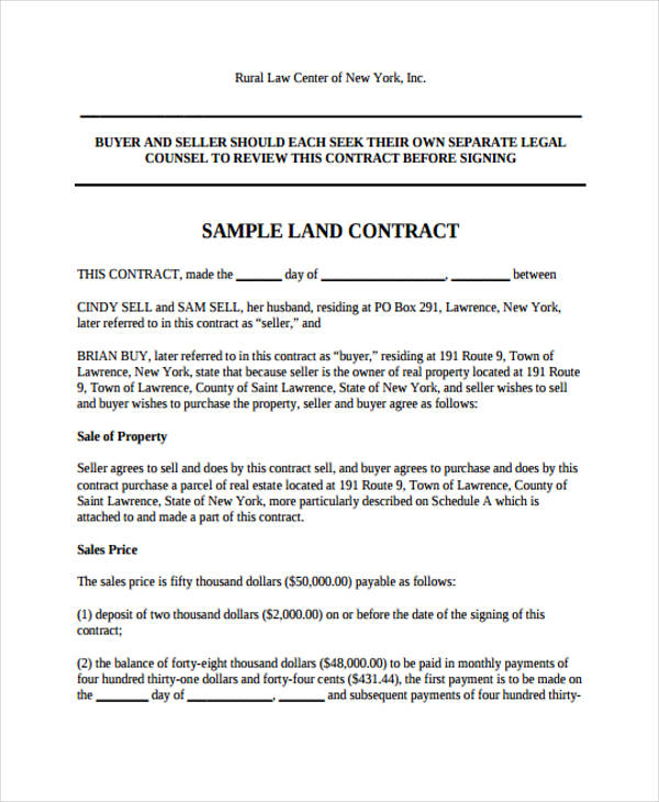 Contract For Deed Mn Template Create Professional Resumes