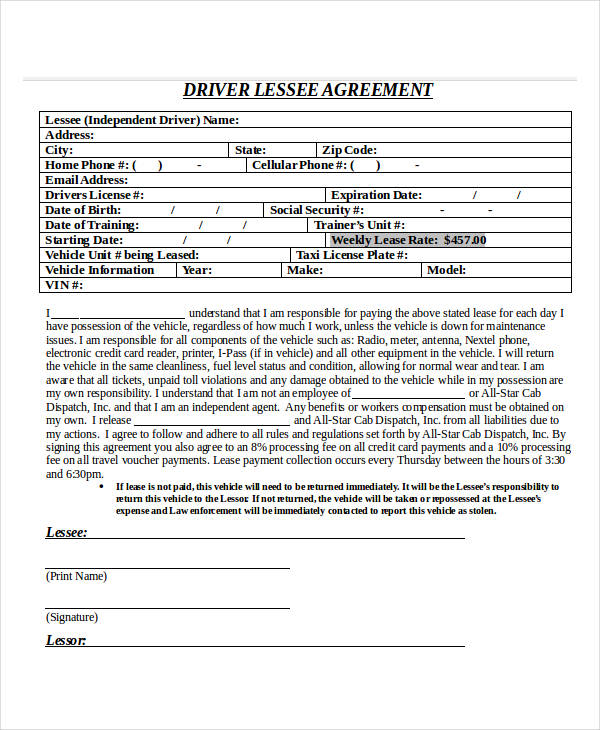 24 Lease Agreement Forms in Doc - how do you make a lease agreement