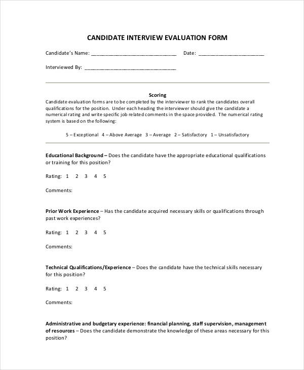 interview evaluation comments examples radiovkm