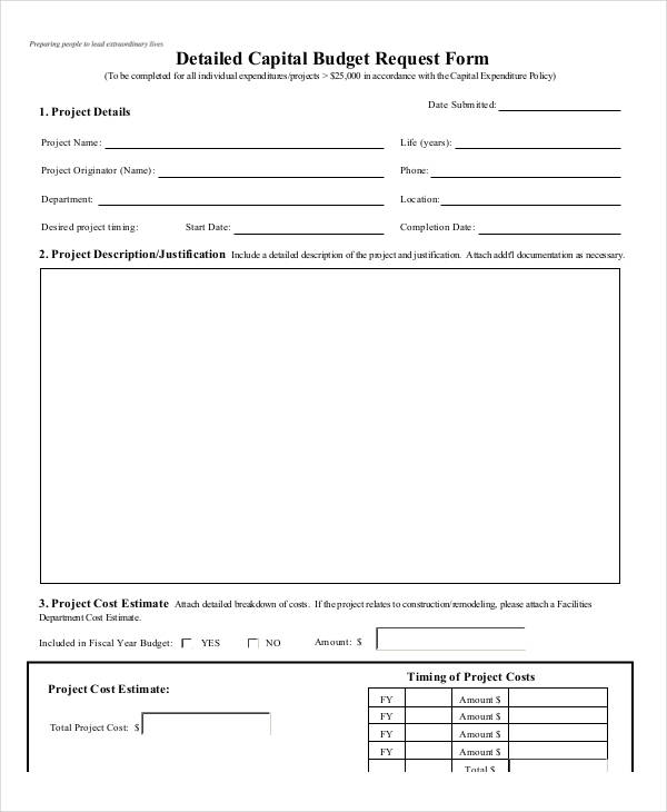 9+ Sample Budget Request Form - Free Sample, Example Format Download