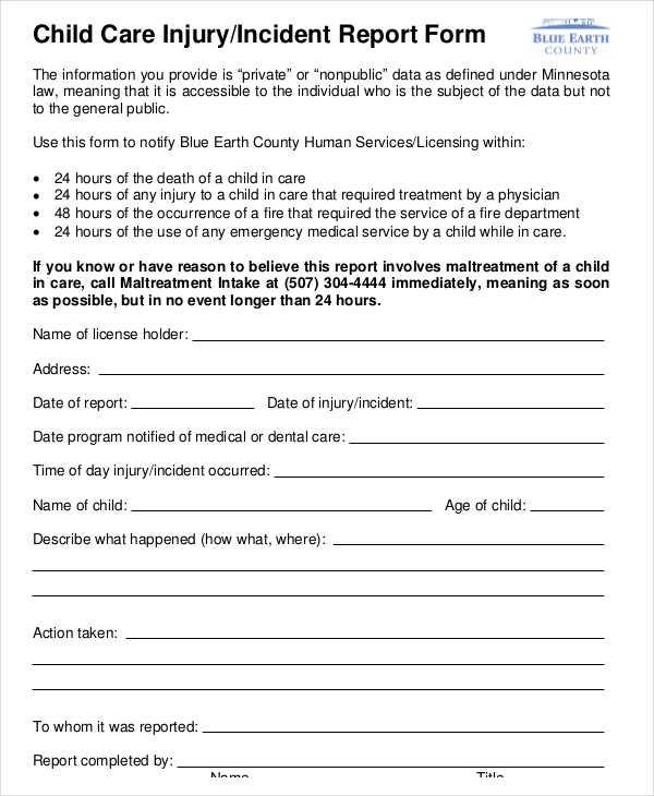 dental incident report form template - Pinarkubkireklamowe