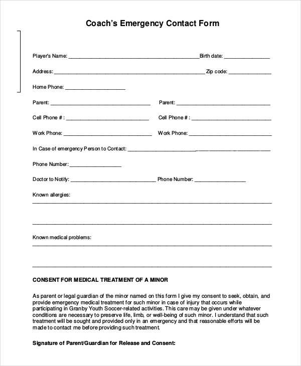 in case of emergency forms - Alannoscrapleftbehind - emergency contact form