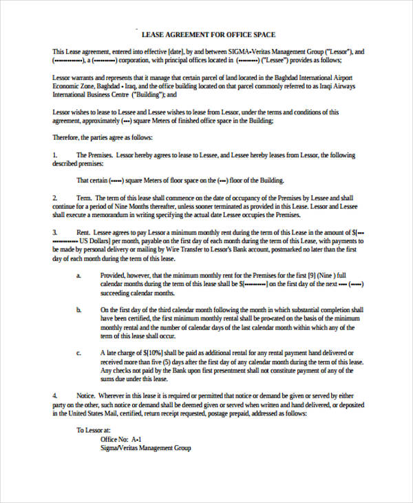 Lease Agreement Copy  NodeCvresumePaasproviderCom