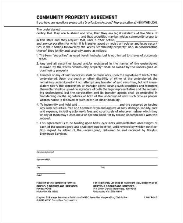8+ Property Agreement Form Samples - Free Sample, Example Format