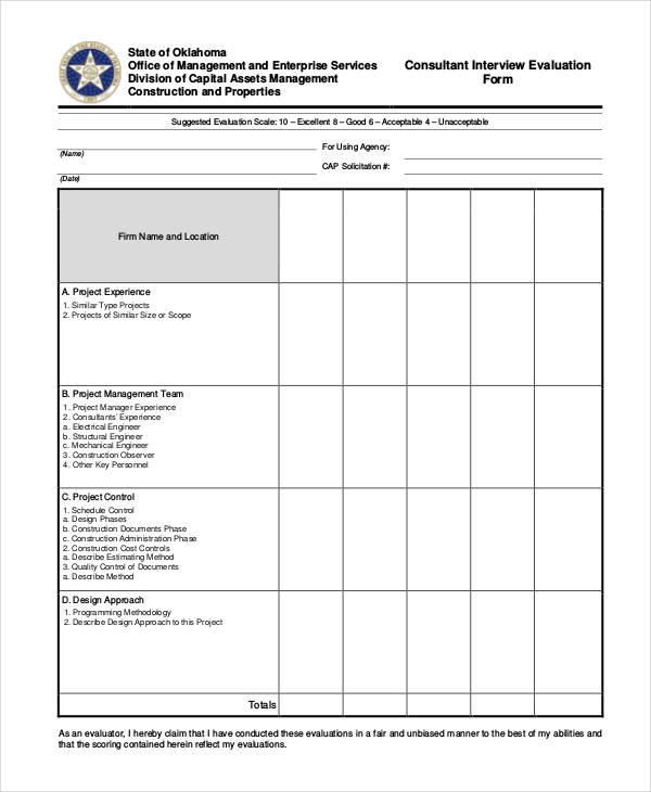 interview evaluation efficiencyexperts - interview score sheet template