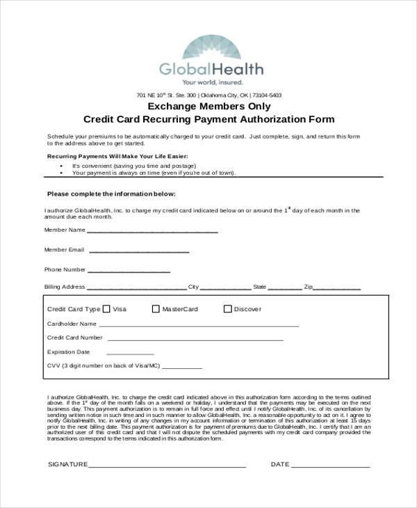 Credit card pre authorization release form - Gestern waren wir