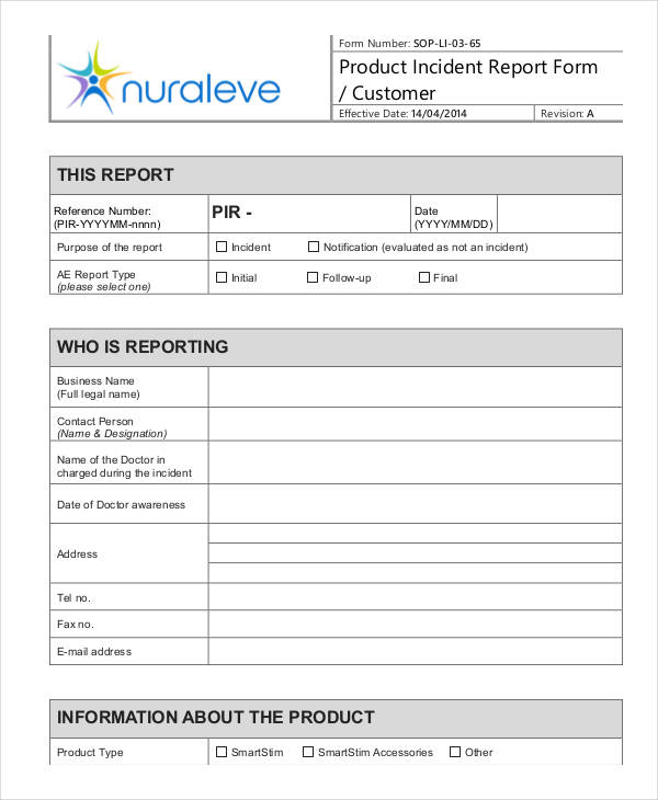 36 Free Incident Report Forms - incident report forms