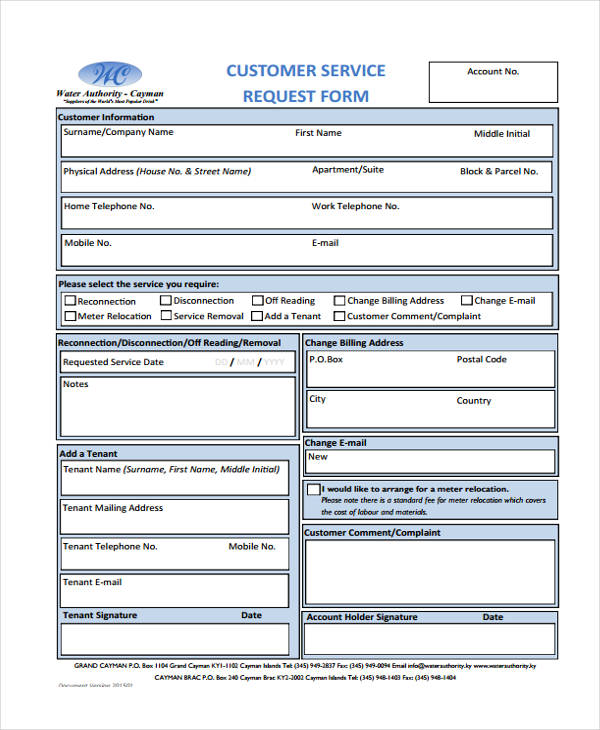 Customer Request Form Manufacturer Invoice Car Invoice Form - service request form
