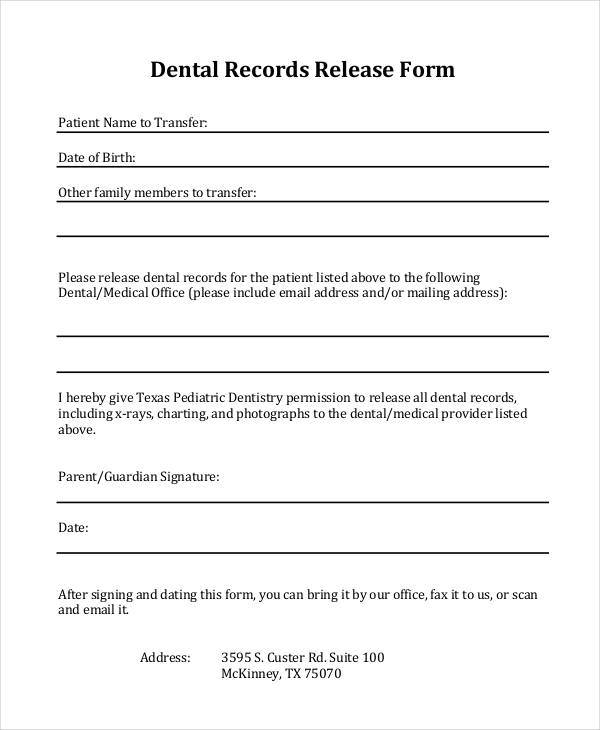 33 Medical Release Forms in PDF - medical records release forms