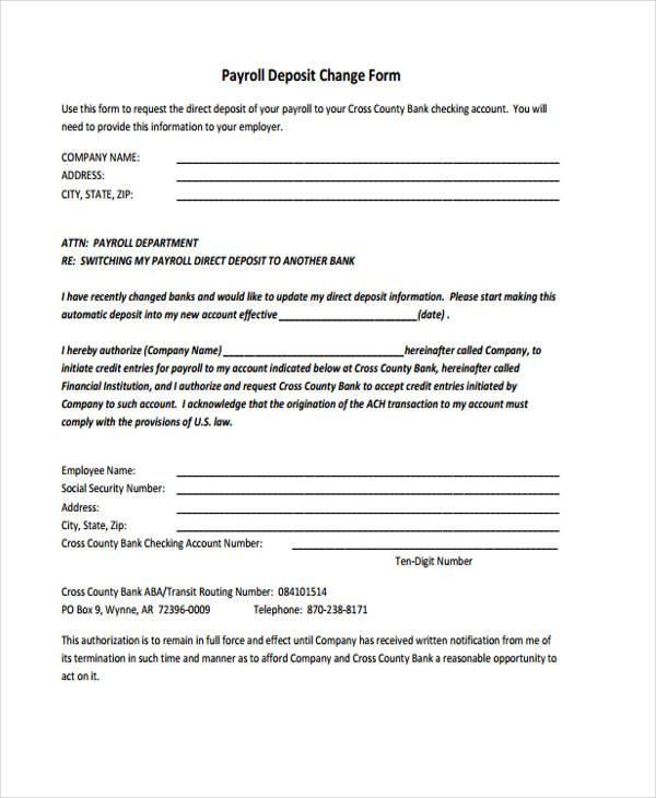 Change Form Template - address change form template