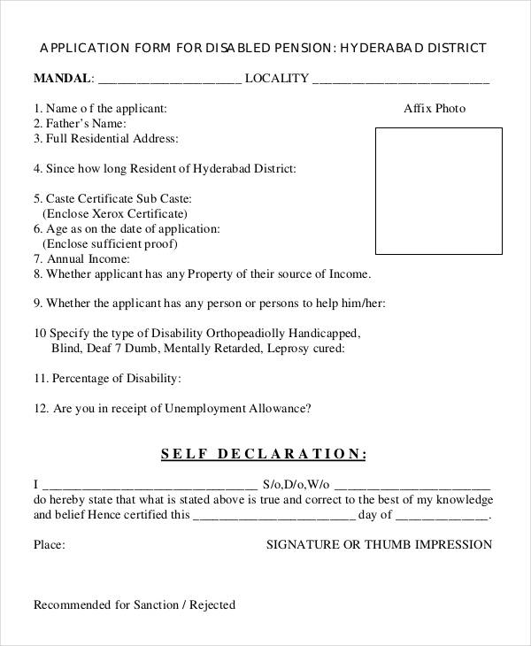 Disability Form We Appreciate Your Cooperation In Completing The - income certificate form