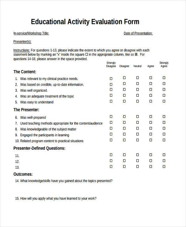 Group Activity Evaluation Template Sample Candidate Interview Form - group activity evaluation template