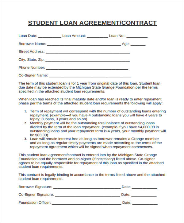 40 Printable Loan Agreement Forms - loan documents template