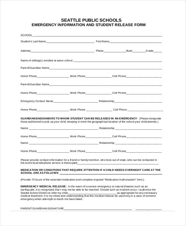 Medical Release Form For Child  NodeCvresumePaasproviderCom