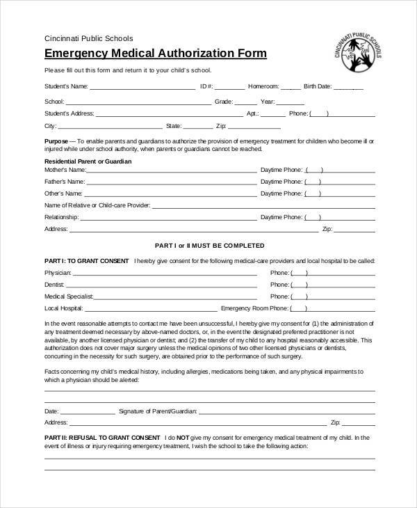 Blank Medical Forms - 35+ Free Documents in Word, PDF - blank medical forms