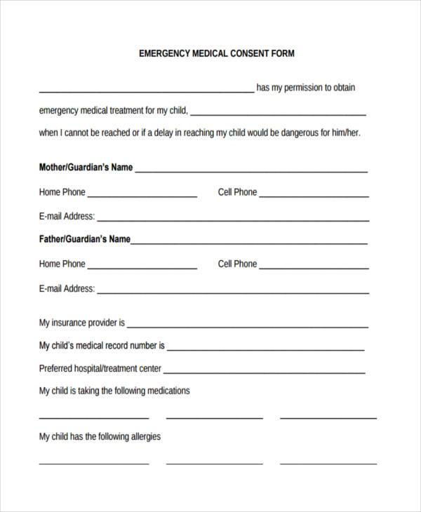 Free Medical Form - background check consent forms