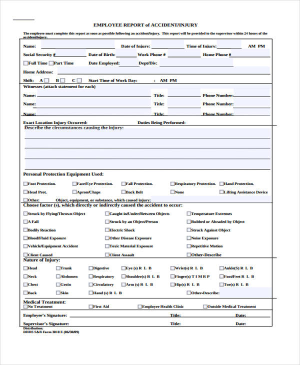 Sample Incident Report Form - Sample Incident Report