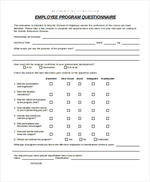Employee Evaluation Form Questions  Refusal Of Job Offer Letter